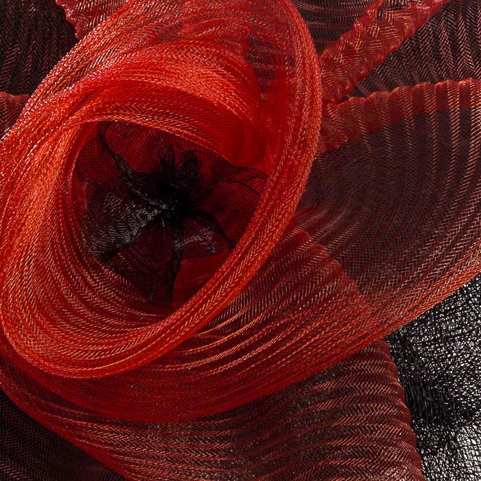 Pamela roja y negra, detalle