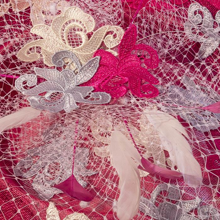 Pamela rosa y blanca para boda