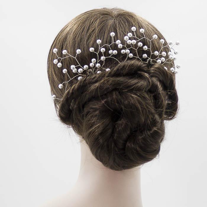 Adorno para recogido novia de perla blanca