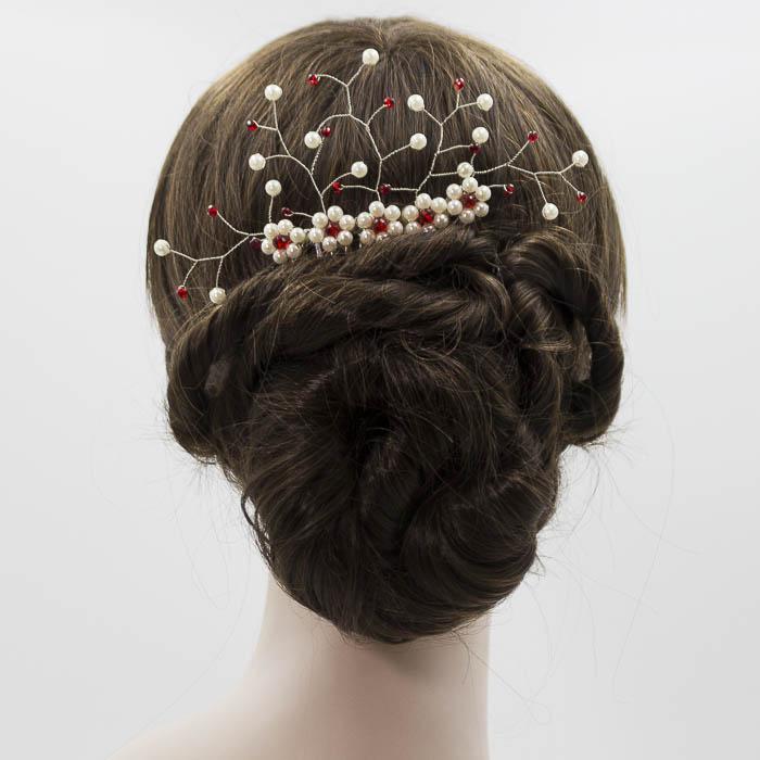 Peineta de perlas para boda