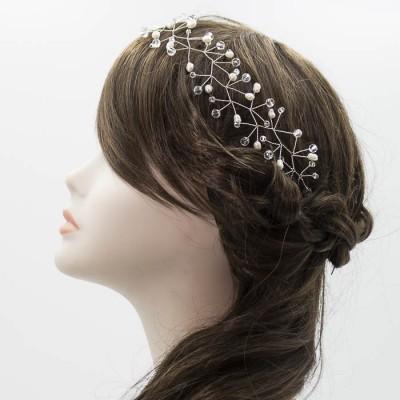 Tiara de perlas novia